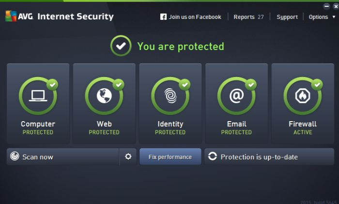 AVG Antivirus Interface
