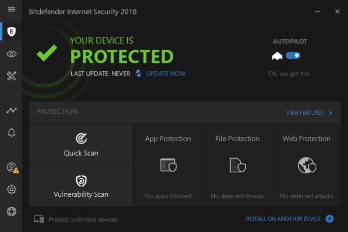 Bitdefender Antivirus Interface