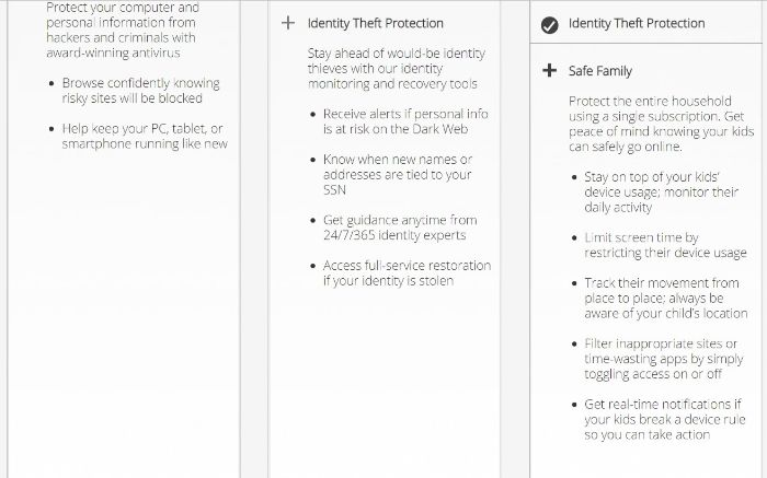 McAfee Security Suites and Features 2019 2 min