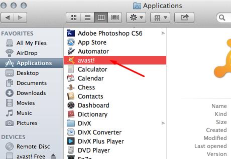 Applications-open Avast icon Mac