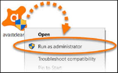 run uninstall utility of avast