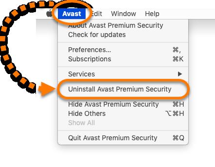 uninstall premium security