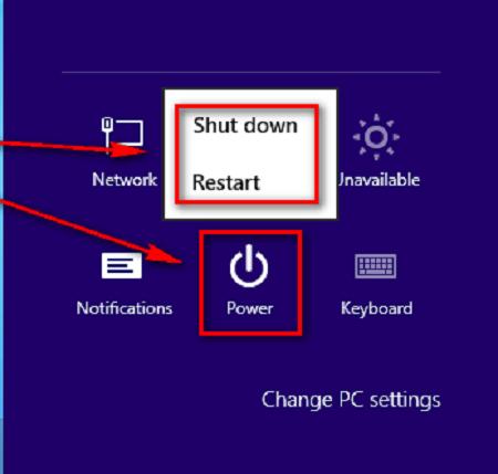 restart windows 8 to apply changes